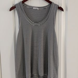 Anthropologie striped tank top size large
